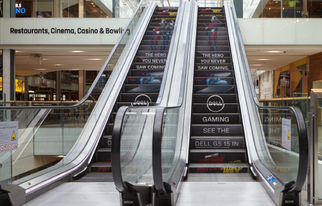 Antman and the Wasp, Escalator Advertising, Westfield London