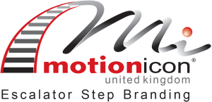 Motion Icon UK - Escalator Step Branding