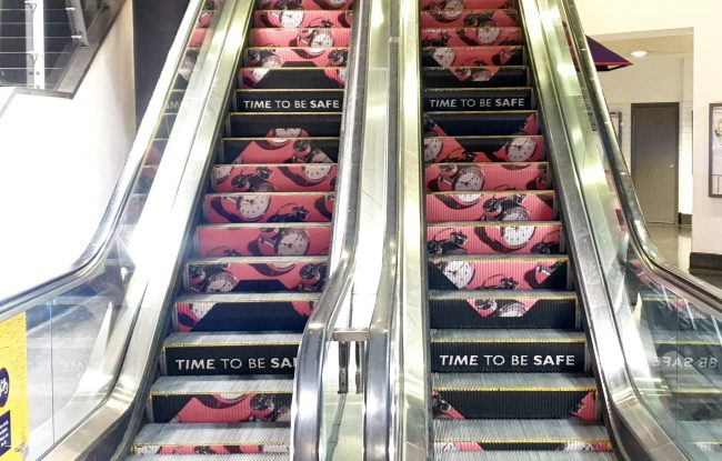 Network Rail Escalator Safety Campaign Manchester Piccadilly Station