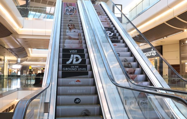 Liverpool One-Shopping Centre OOH Advertising Escalator Campaign