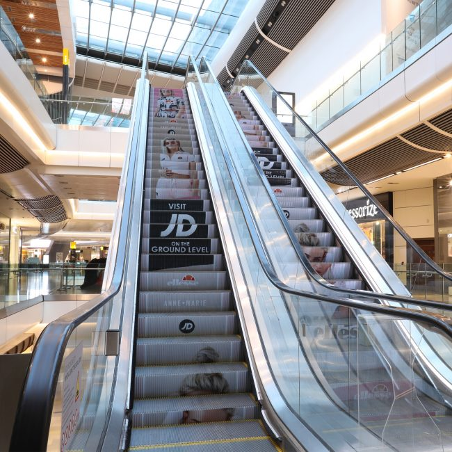 Liverpool One-Shopping Centre Escalator Advertising