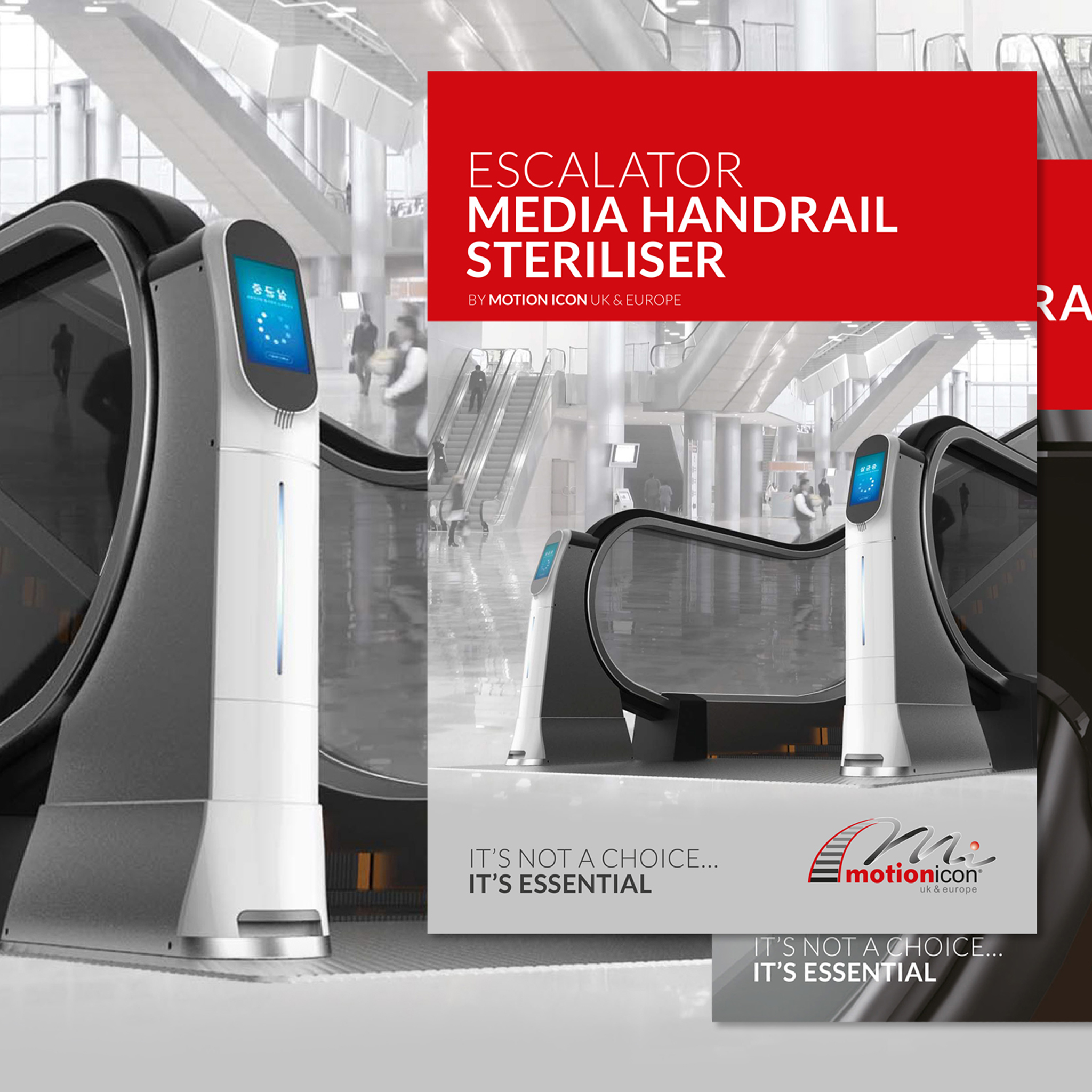 Escalator Digital Handrail Steriliser UK and Europe Latest News