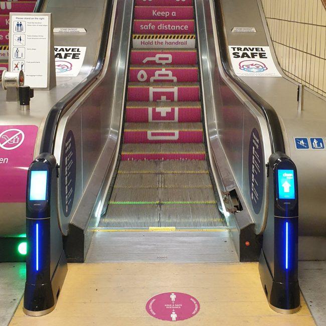 Covid-19 Awareness Campaign Fenchurch Street Station London Trenitalia c2c